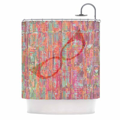 Bridgette Burton Retro Graffiti Vintage Shower Curtain