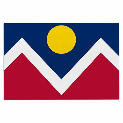 Bruce Stanfield Denver Colorado City Flag Vector Geometric Doormat