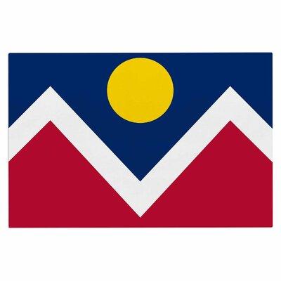 Bruce Stanfield Denver Colorado City Flag Vector Geometric Doormat