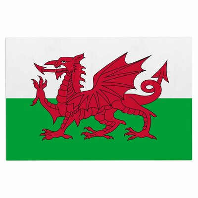 Bruce Stanfield Flag of Wales Authentic Fantasy Illustration Doormat