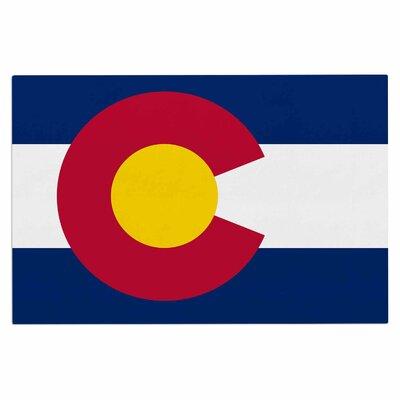 Bruce Stanfield Flag of Colorado II Doormat