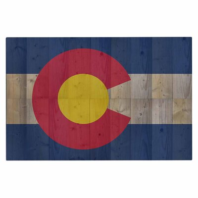 Bruce Stanfield Flag of Colorado Doormat