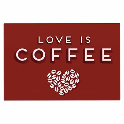 Busy Bree Coffee Love Typograph Doormat