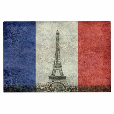 Bruce Stanfield Vintage Paris Mixed Media Travel Doormat
