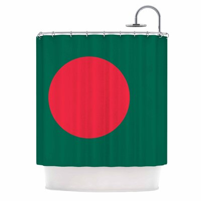 Bruce Stanfield Flag of Bangladesh Digital Shower Curtain