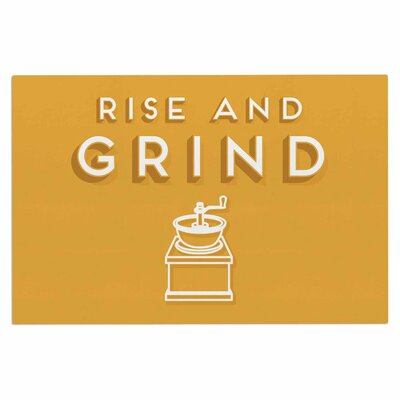Busy Bree Rise and Grind Illustration Doormat