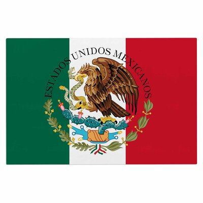 Bruce Stanfield Mexico Flag Coat of Arms Doormat