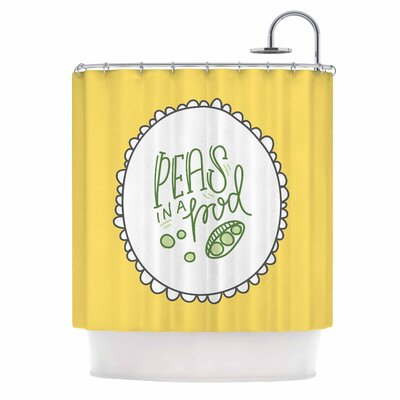 Busy Bree Peas in a Pod Shower Curtain