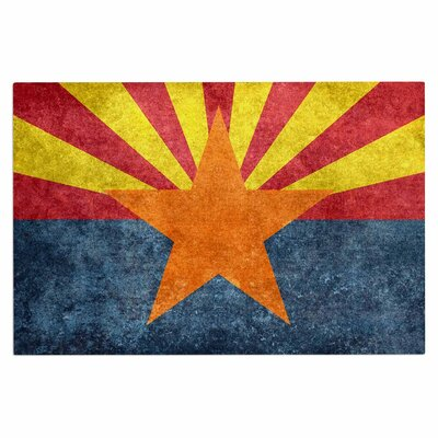 Bruce Stanfield Arizona State Flag Retro Style Doormat