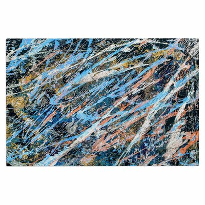Bruce Stanfield Cobalt 1 Abstract Doormat