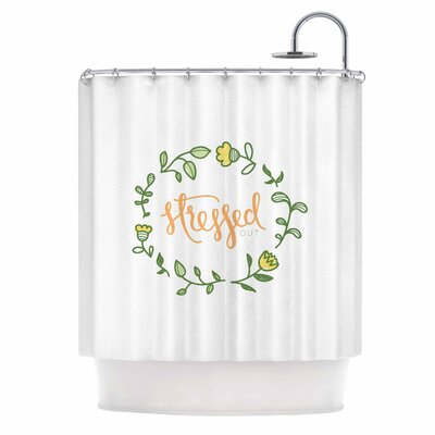 Busy Bree Stressed Out Floral Shower Curtain