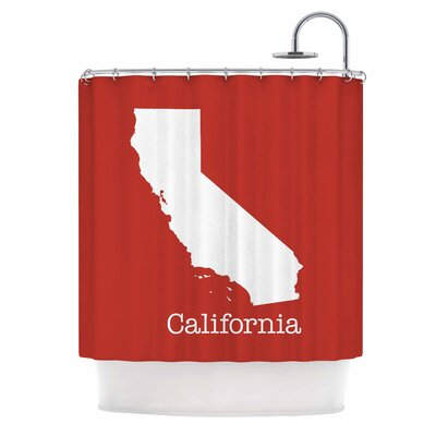 Bruce Stanfield California State on Shower Curtain