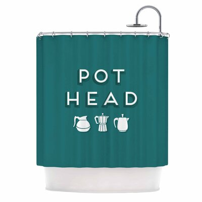 Busy Bree Pot Head Digital Shower Curtain