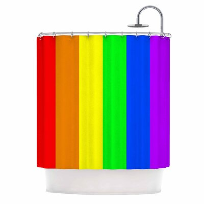 Bruce Stanfield Rainbow Stripes Digital Shower Curtain