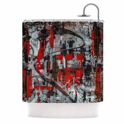 Bruce Stanfield Zinger in Abstract Shower Curtain
