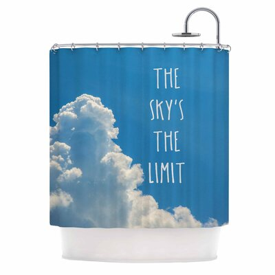 Bruce Stanfield the Skys the Limit Square Typography Nature Shower Curtain
