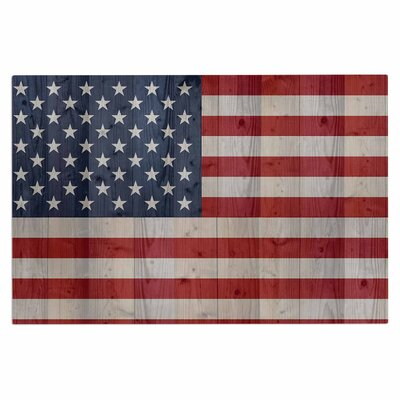 Bruce Stanfield USA Flag on Spruce Doormat