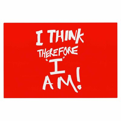Bruce Stanfield I Think therefore I Am Typography Doormat