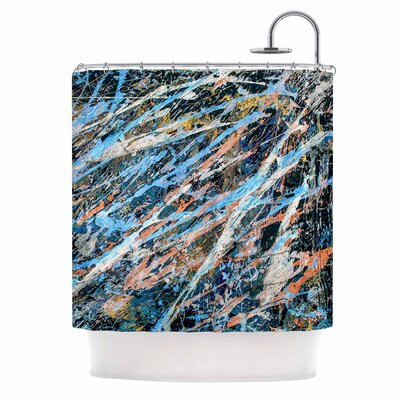 Bruce Stanfield Cobalt One Abstract Shower Curtain
