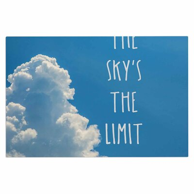 Bruce Stanfield The Sky the Limit Square Typography Nature Doormat