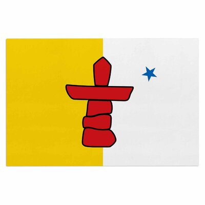 Bruce Stanfield Flag of Nunavut Tribal Doormat