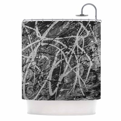 Bruce Stanfield Verness in Grayscale Shower Curtain