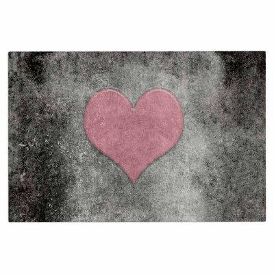 Bruce Stanfield Vintage Valentine Digital Doormat Color: Pink/Black