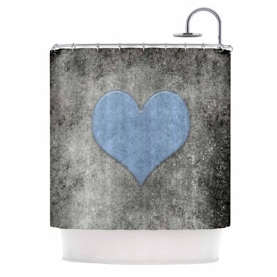 Bruce Stanfield Vintage Valentines Digital Shower Curtain Color: Blue