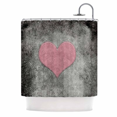 Bruce Stanfield Vintage Valentines Digital Shower Curtain Color: Pink