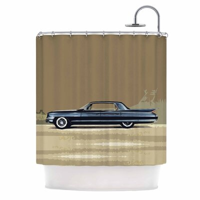 Bruce Stanfield Cadillac Fleetwood 1961 Digital Shower Curtain