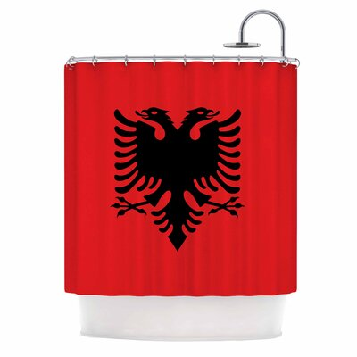 Bruce Stanfield Flag of Albania Digital Shower Curtain