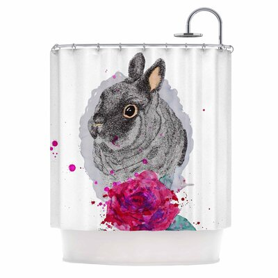 Cecibd BunnyRose Animal Shower Curtain