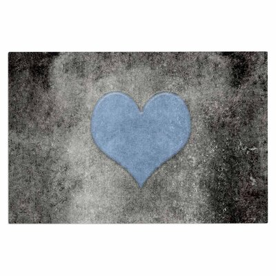 Bruce Stanfield Vintage Valentine Digital Doormat Color: Blue/Black