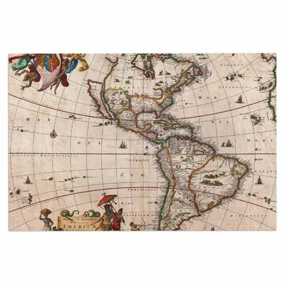 Bruce Stanfield Vintage Map of the Americas Doormat