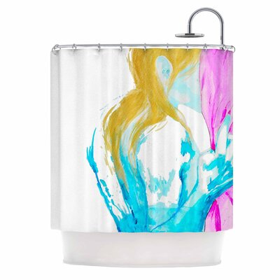 Cecibd Empty Watercolor People Shower Curtain