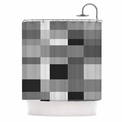 Bruce Stanfield Monotones Cubed Digital Shower Curtain