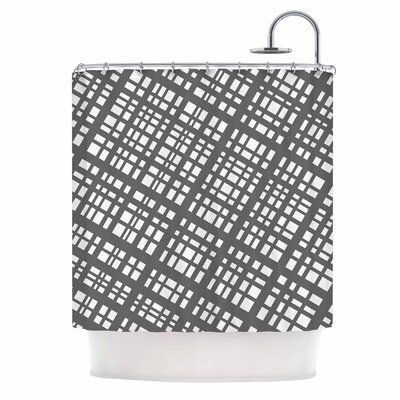 Bruce Stanfield the Bauhaus Grid Digital Shower Curtain