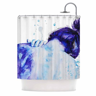 Cecibd Watercolor Shower Curtain