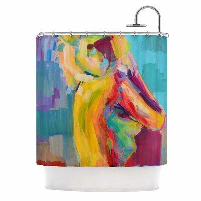 Cecibd Turquesa Abstract Shower Curtain