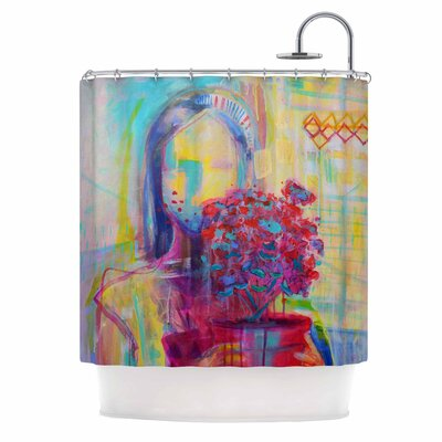 Cecibd Girl with Plants III Abstract Shower Curtain