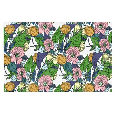 Catherine Holcombe Spring Foliage Floral Pastels Doormat