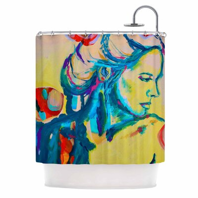 Cecibd Still Waiting II Abstract Shower Curtain