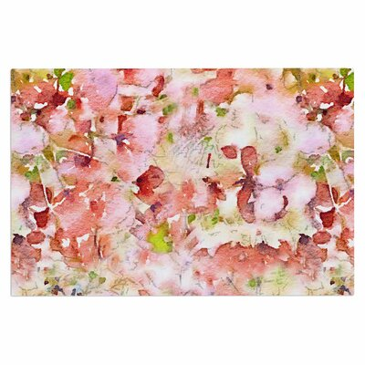 Carolyn Greifeld Floral Fantasy Abstract Doormat Color: Pink