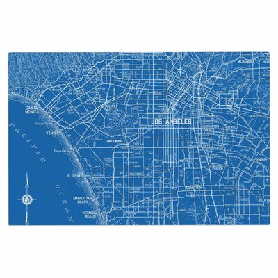 Catherine Holcombe Los Angeles Streets Map Doormat