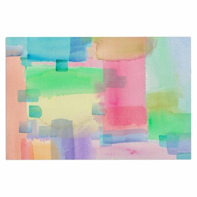 Catherine Holcombe Watercolor Brushstrokes Modern Doormat