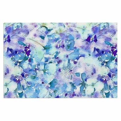 Carolyn Greifeld Floral Fantasy Abstract Doormat Color: Blue