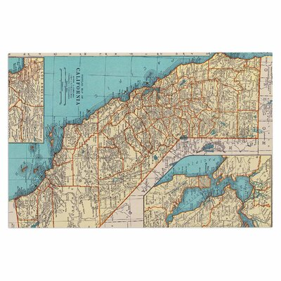 Catherine Holcombe So Cal Surf Map Doormat