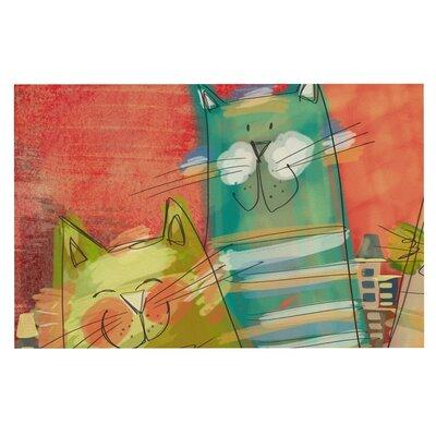 Carina Povarchik Gatos Cat Doormat