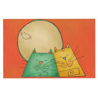 Carina Povarchik 2 Gatos Romance Love Cats Doormat