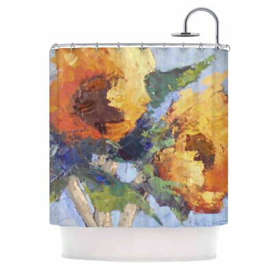 Carol Schiff Sunflower Trio Floral Shower Curtain